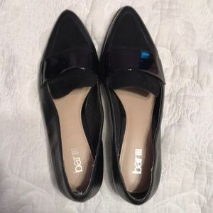 Bar III like new black pointed toe loafers